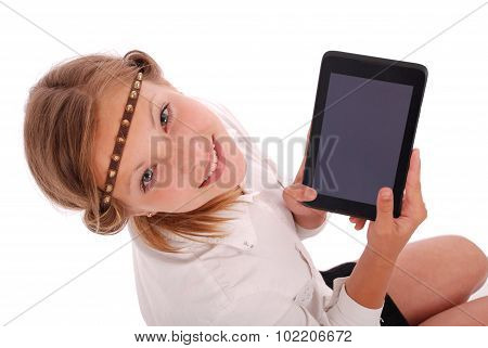 Girl Showing Tablet Pc