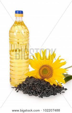 Vegetable Oil In A Plastic Bottle