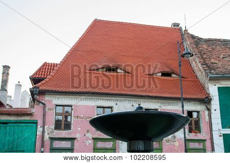 eye roofs in Grand Square in Sibiu