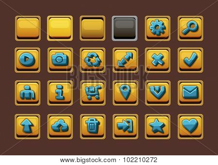 Web design buttons set. Vector illustration