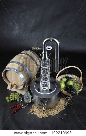 Alcohol Machine, Stainless Steel Bubble Plate Still Tower