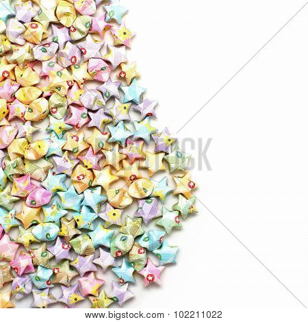 Colorful Of Origami Lucky Stars