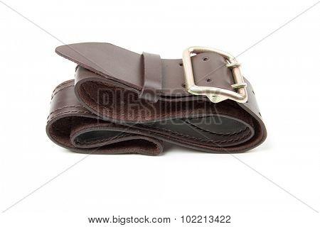 leather belt, isolated on white background