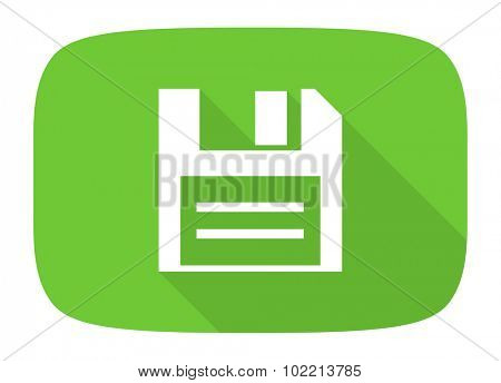 disk flat design modern icon with long shadow for web and mobile app