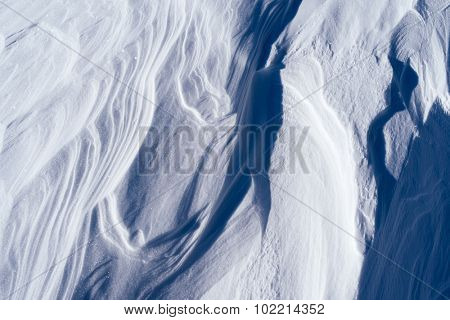 Texture of the snow drifts. Abstract background for design