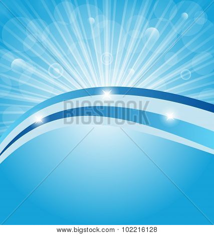 Business card show light rays