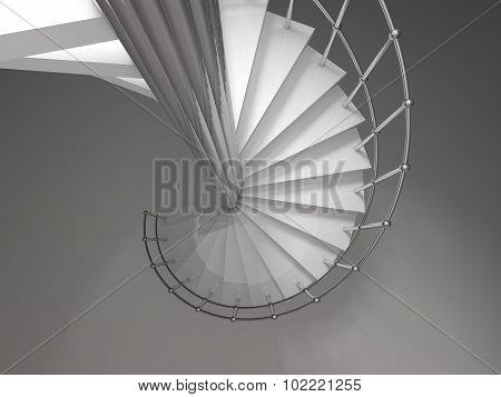 spiral stair 3D rendering