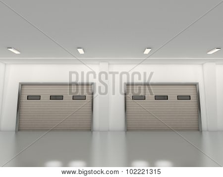 roller shutter door 3D rendering