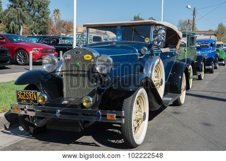 Ford Model A Roadster Convertible On Dislplay