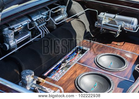 Car Sound System Detail On Display