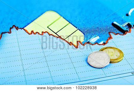stock  exchange currency market concept
