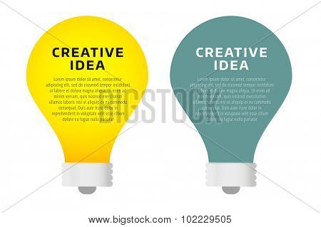 Bulb lamp light idea vector background illustration. Lamp creative idea concept. Brainstorm concept with light bulb lamp isolated on background.