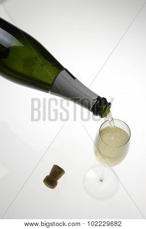 Bottle Pouring Champagne