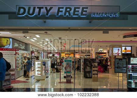 Duty Free Americas Store At Miami International Airport