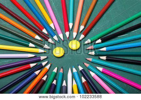 Pencils Around Smile