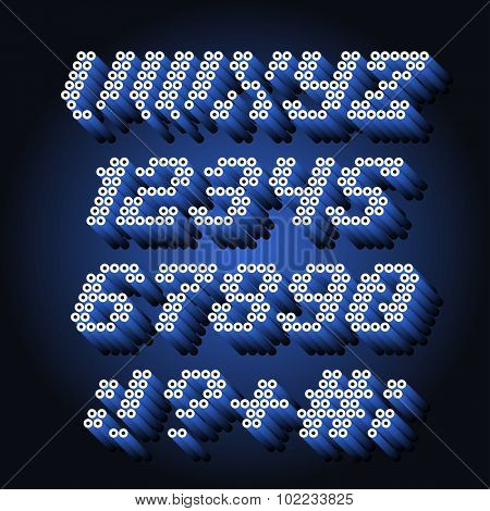 Alphabet font and numbers from pipe