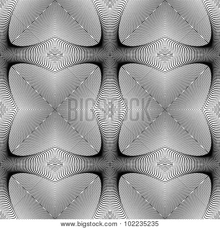 Design Seamless Monochrome Lines Pattern