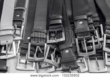 Bunch Of Leather Belts