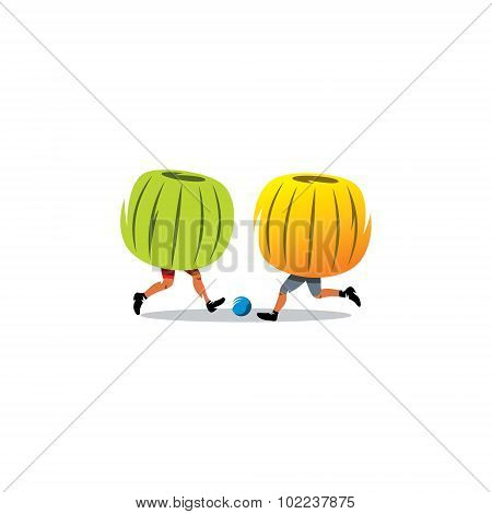 Bumper Ball. Sport Game. Vector Illustration.