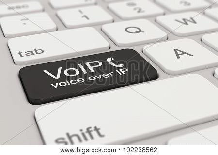 Keyboard - Voice Over Ip - Black
