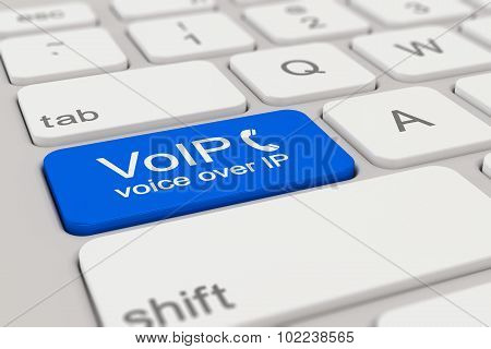 Keyboard - Voice Over Ip - Blue