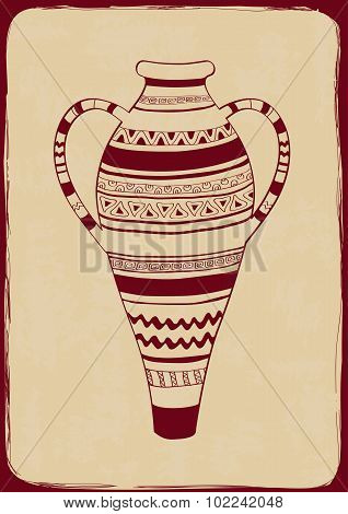 Illustration With Ornate Vase