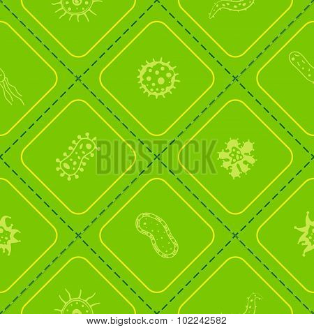 Seamless background with Bacteria