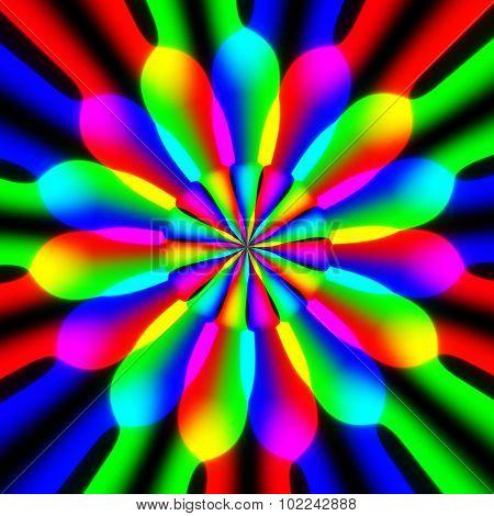 Floral Rainbow Spectrum Pattern Texture