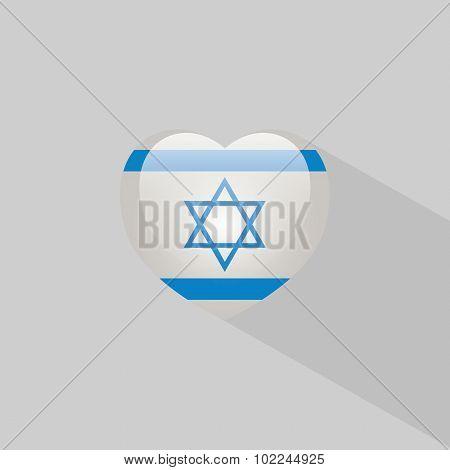 Love Israel Symbol With Shadow
