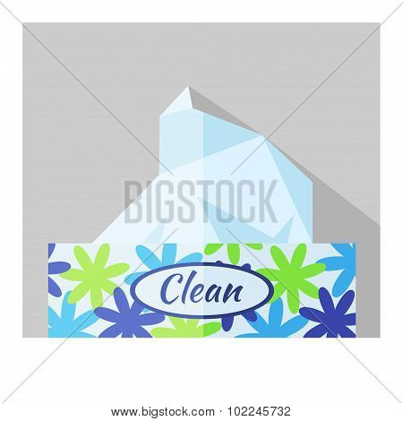 Vector flat box with napkin