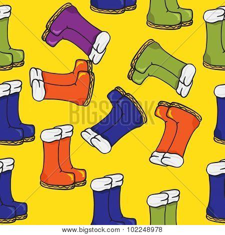 boots seamless pattern