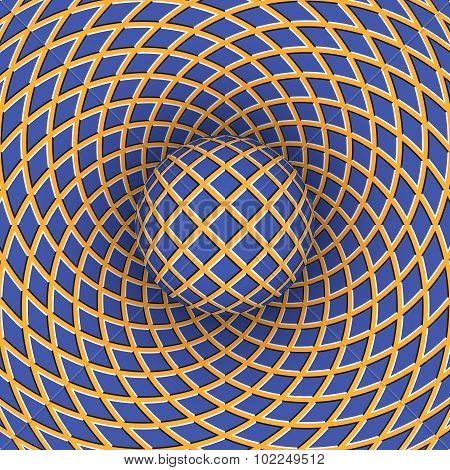 Optical illusion of a moving space.