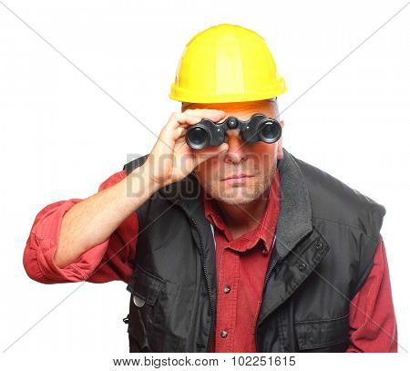 Personal manager or construction leader finding new staff for your company.