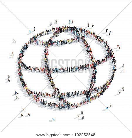 group  people shape  globe