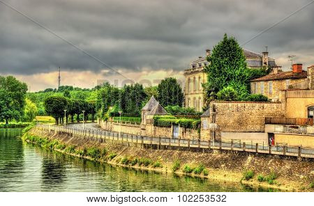 The Embankment Of The River Charente In Saintes - France
