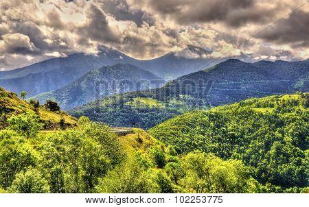 View Of The Catalan Pyrenees, A Natural Park In France