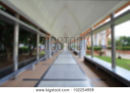 Blurred Image Of Empty Corridor