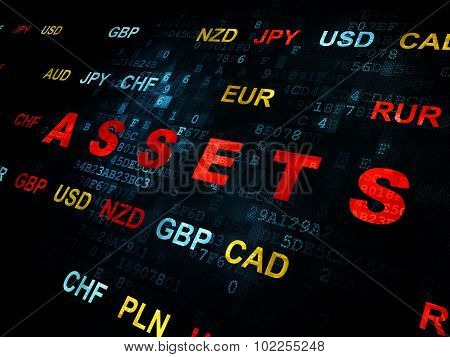 Currency concept: Assets on Digital background