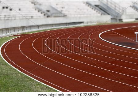 Athletics Stadium Running track curve At  Sport Stadium