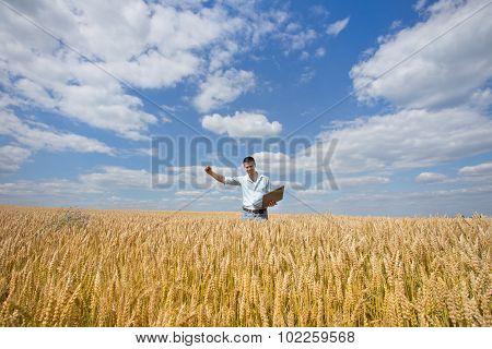 Businessman In The Field