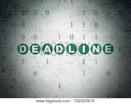 Business concept: Deadline on Digital Paper background