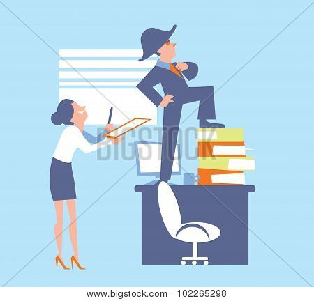 Abstract business concept of office life