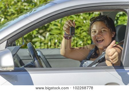 Girl Has Driving License