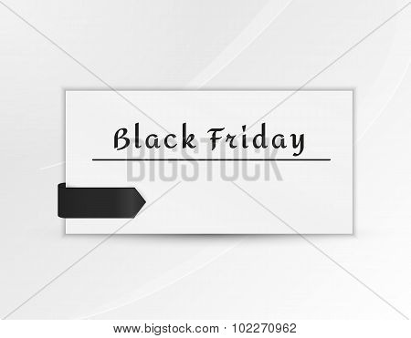 Black Friday Paper With Black Ribbon
