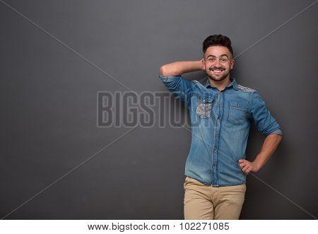 Handsome hipster man
