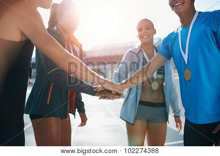 Athletics Team Celebrating Victory