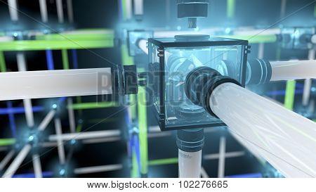 Light Grid Or Fluorescent Tube