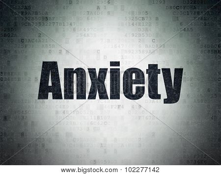 Health concept: Anxiety on Digital Paper background