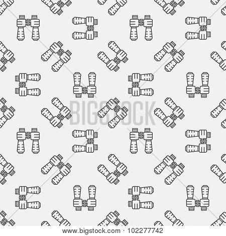 Binoculars seamless pattern
