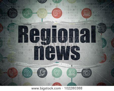 News concept: Regional News on Digital Paper background